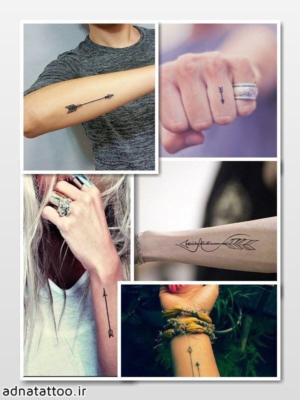 arrow tattoo پیکان