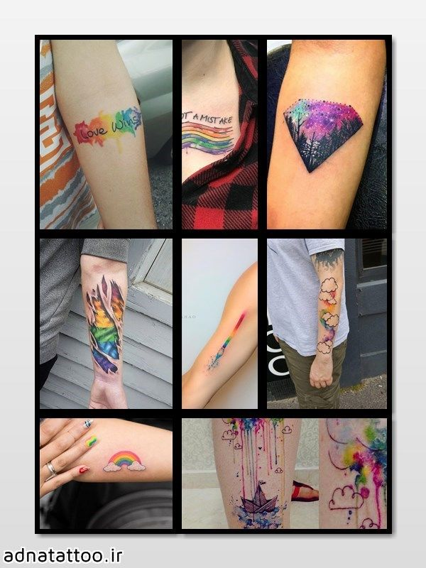تاتو رنگین کمان rainbow tattoo