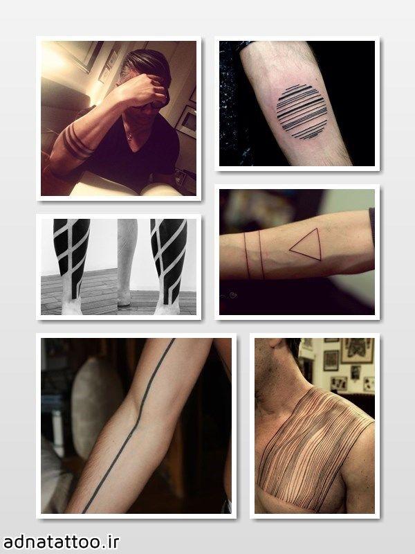 تاتو لاین و خط سیاه