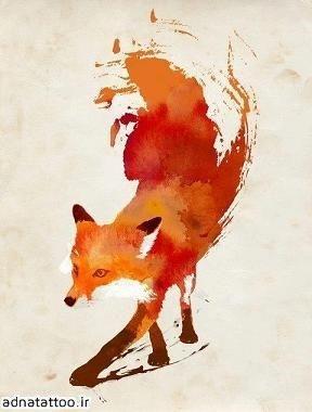 تاتو روباه روی پهلو